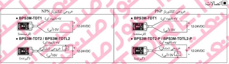 نصب سنسور های نوری آتونیکس سری BPS - سنسور نوری مکعبی آتونیکس Autonics مدل BPS3M-TDT