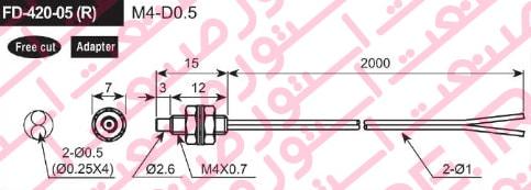 سنسور فیبر نوری آتونیکس مدل FD 420 05R - سنسور فیبر نوری آتونیکس Autonics مدل FD-420-05