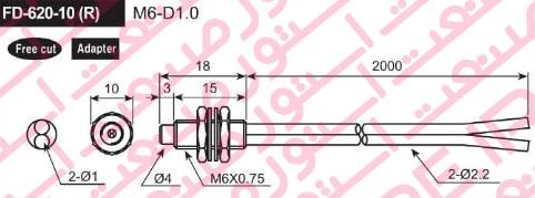 سنسور فیبر نوری آتونیکس مدل FD 620 10R - سنسور فیبر نوری آتونیکس Autonics مدل FD-620-10
