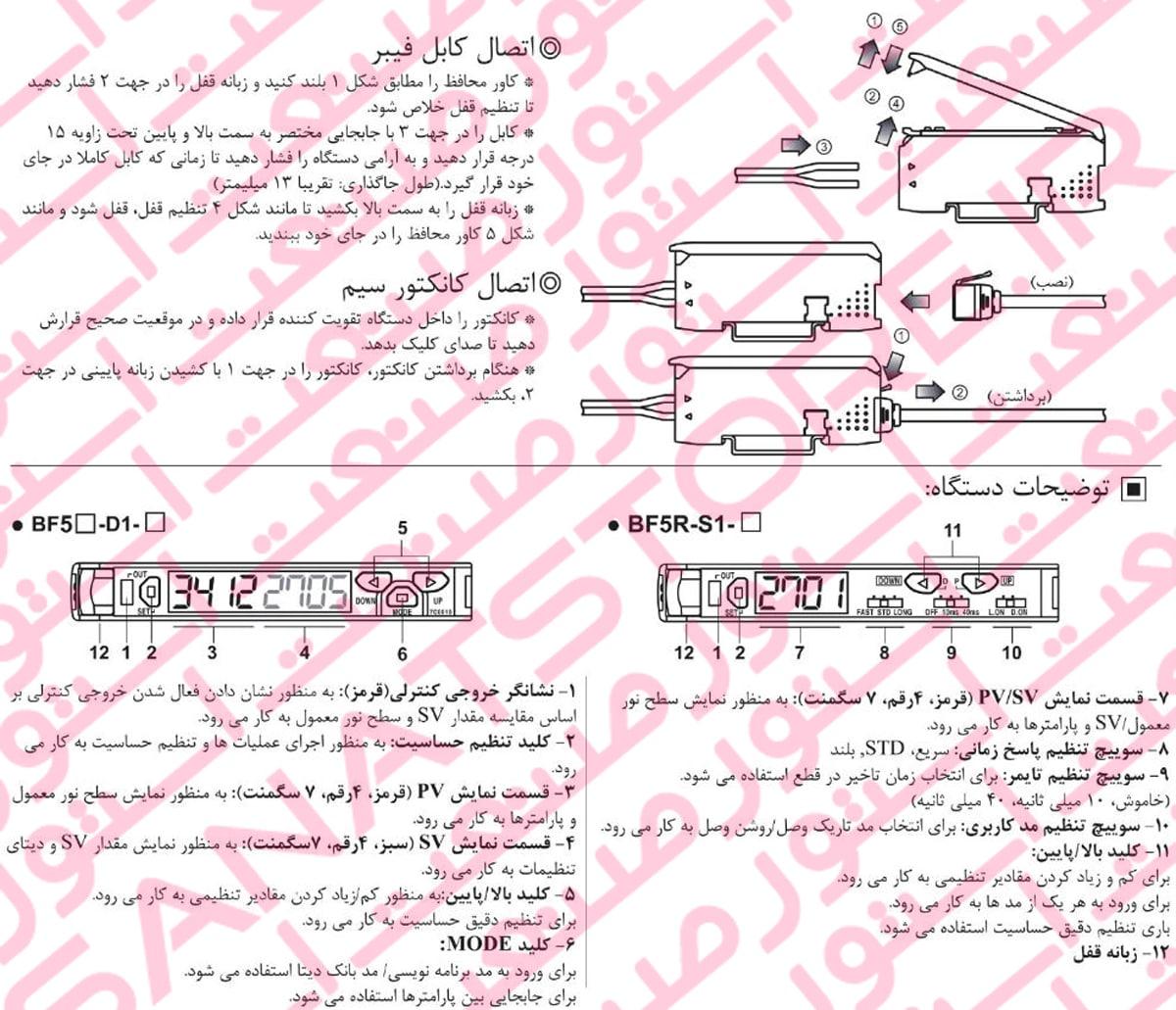 نصب آمپلی فایر فیبر نوری آتونیکس سری BF5 1 - آمپلی فایر فیبر نوری آتونیکس Autonics مدل BF5R-D1-N