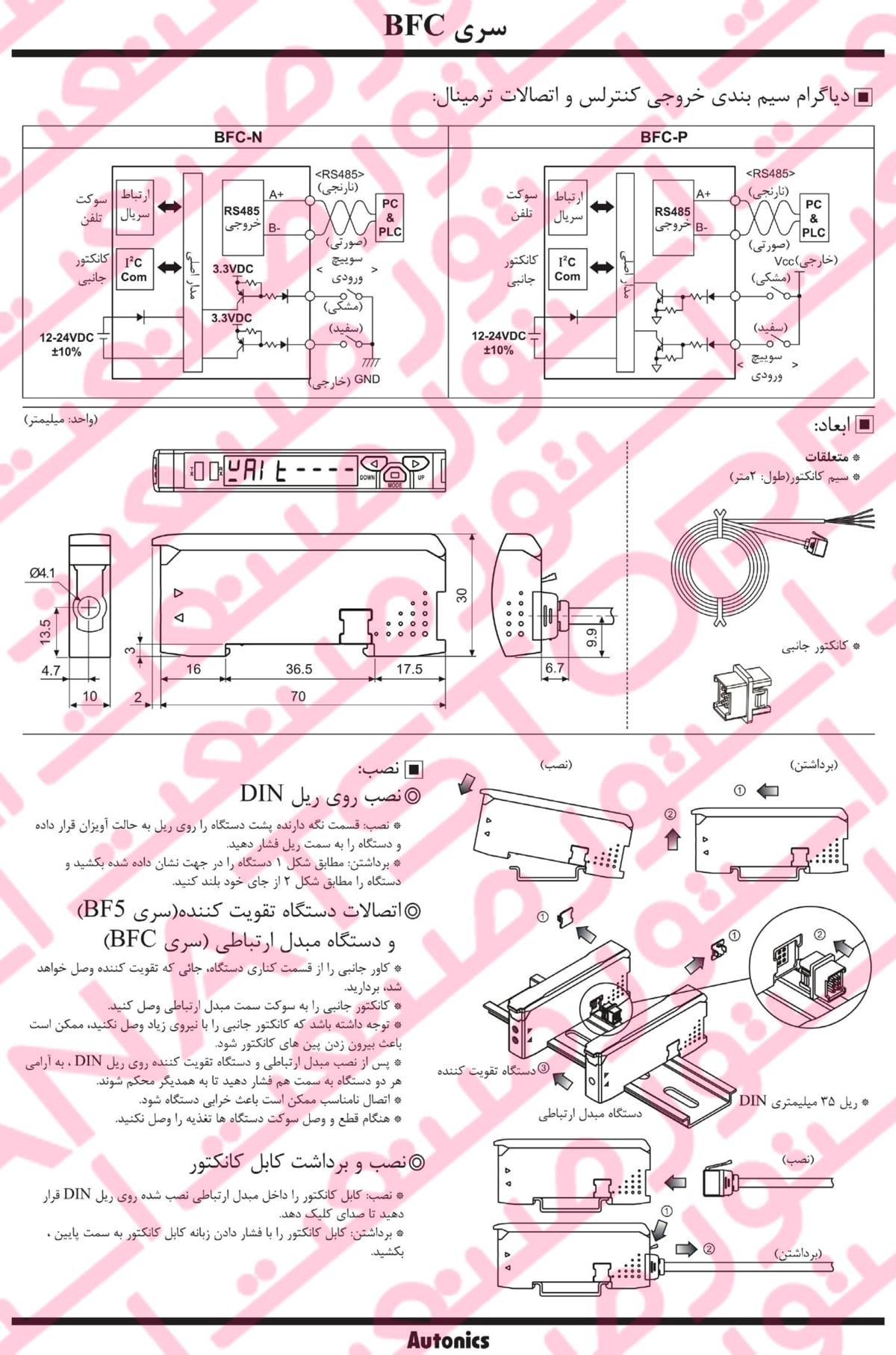 راهنمای نصب آمپلی فایر فیبر نوری آتونیکس سری BFC