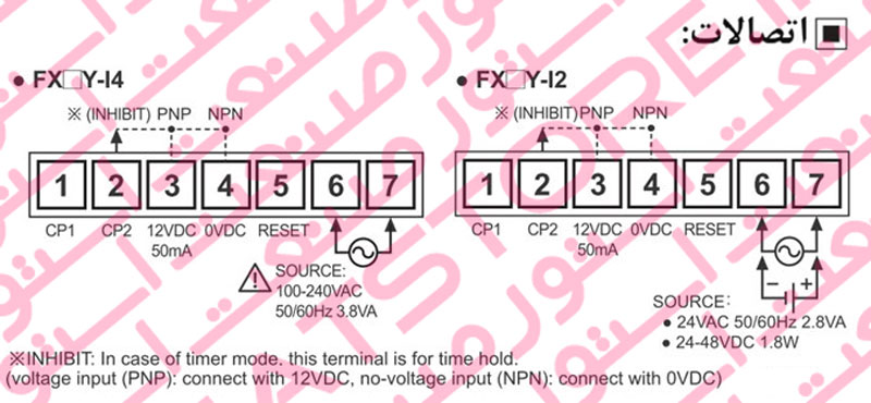 راهنمای نصب شمارنده دیجیتال آتونیکس Autonics سری FX6Y
