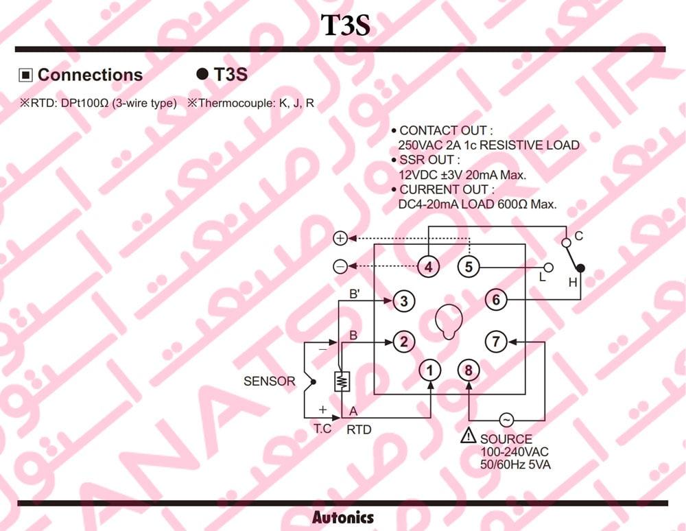 راهنمای نصب کنترلر های دما آتونیکس Autonics سری T3S