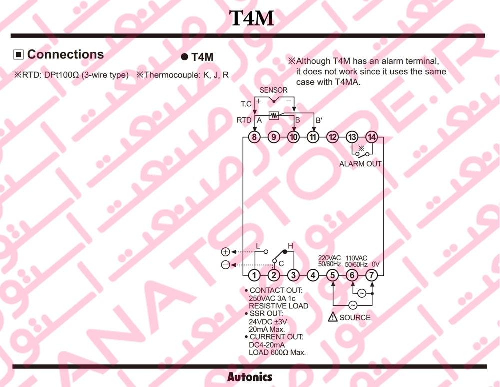 راهنمای نصب کنترلر های دما آتونیکس Autonics سری T4M