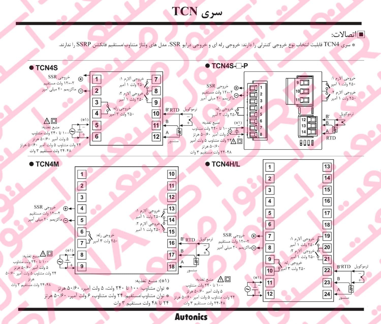 راهنمای نصب کنترلر های دما آتونیکس Autonics سری TCN