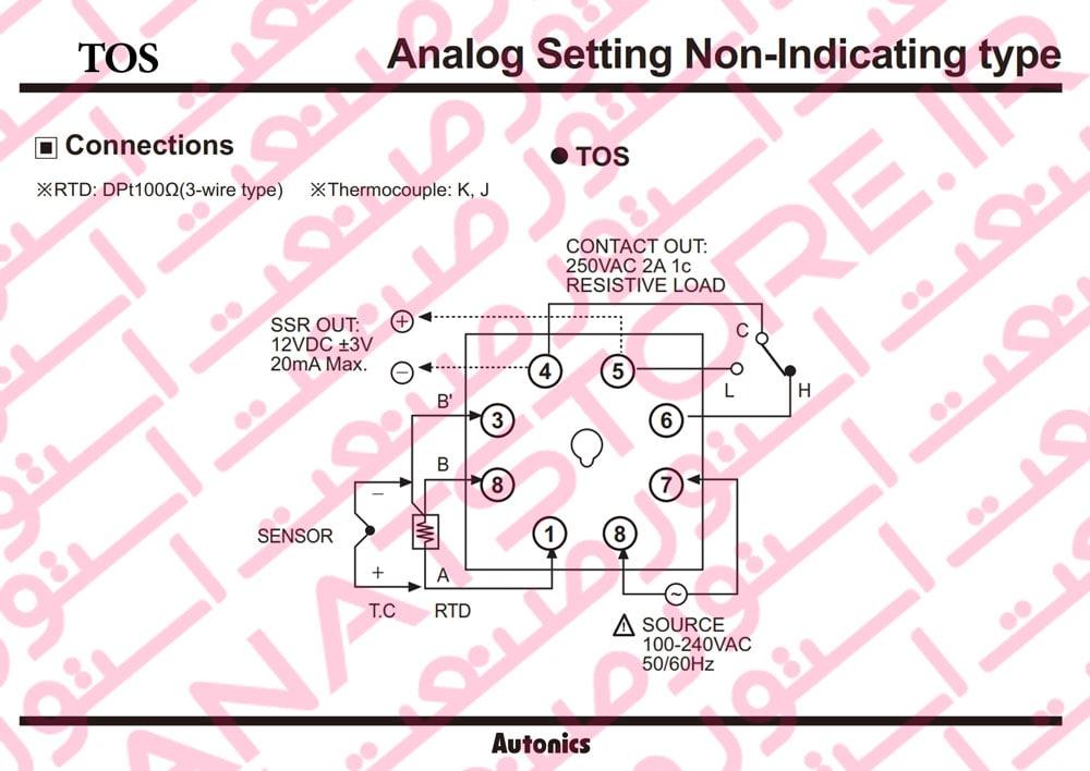 راهنمای نصب کنترلر های دما آتونیکس Autonics سری TOS