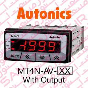 Autonics Panel Meter MT4N-AV Model Display With Output