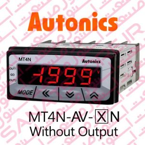 Autonics Panel Meter MT4N-AV Model Only Display Without Output