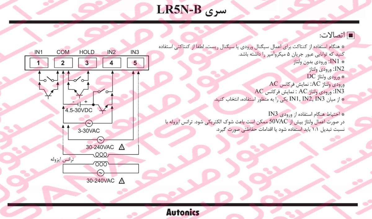 راهنمای نصب پالس میتر دیجیتال آتونیکس Autonics مدل LR5N-B