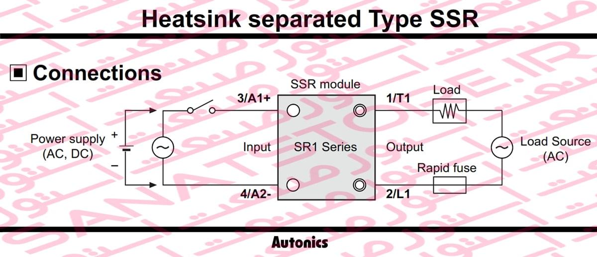Autonics Single-Phase Heatsink Separated Type SSR SR1 Series